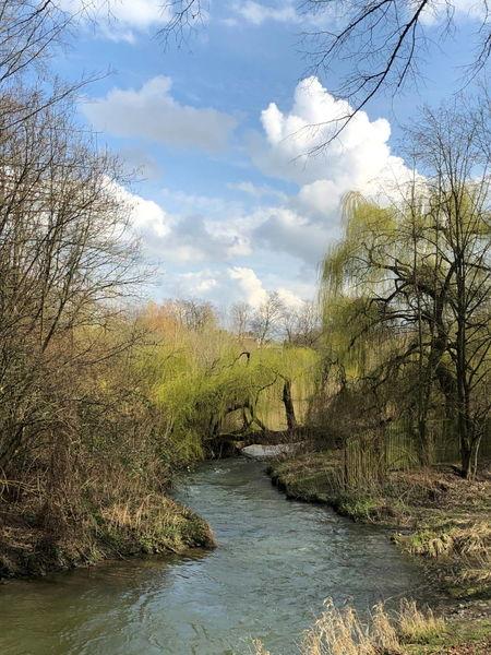 Gewässer im Berliner Park in Ahlen.