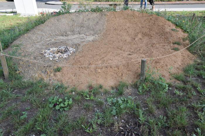Die neue Insektenburg auf dem Kreishausgelände in Warendorf.