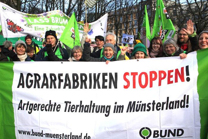 """BUND Warendorf bei der """"Wir haben es satt""""-Demo in Berlin."""