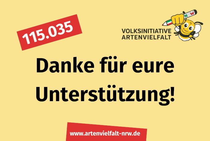 Volksinitiative Artenvielfalt NRW sagt Danke!